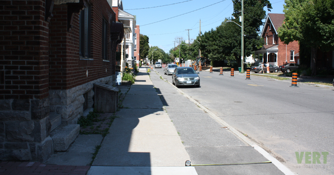 Crichton Street looking north between Electric and Dufferin